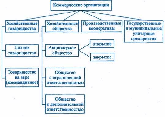 некоммерческие юридические организации понятие характеристика их видов