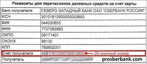 реквизиты пао сбербанк россии северо-западный
